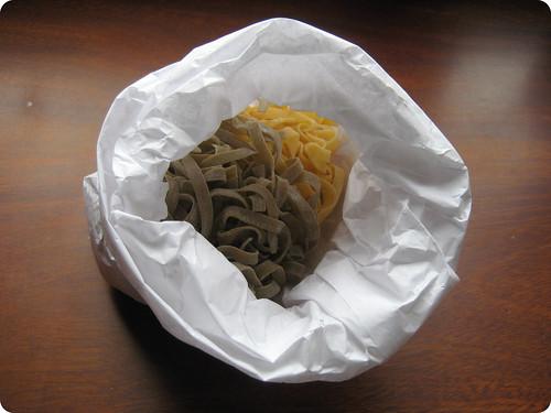 Foto de la pasta fresca