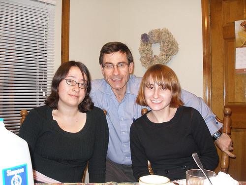 Dad, Kristen and Me at Grandma's for thanksgiving