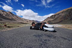 On the Road (Prabhu B Doss) Tags: blue india mountain nature clouds skyscape landscape nikon indian sigma kashmir dslr 1020mm leh 1020 f8 himalayas jk ladakh prabhu highaltitude sigma1020mm jammuandkashmir nikonian mountainroads bikeexpedition nikondslr incredibleindia d80 nikonstunninggallery wideangleshot nikond80 indianphotographers prabhub manalilehhighway prabhubdoss projecthimank welcometoindia ladakhscapes bcmtouringcom prabhuboomibalagadoss zerommphotography 0mmphotography