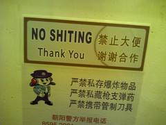 Don't you dare (TrevinC) Tags: china travel sign bathroom funny different you beijing large toilet cant read thank part most cannot rest language chinglish 8505 noshitting shitting fav10 shiting noshiting