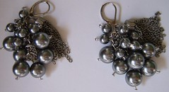 Pewter Pearl & Silver Tassle Earrings (Crysteli Jewelri) Tags: glass beautiful silver gold necklace beads carved colorful crystals crystal handmade stones turquoise unique crafts shell jewelry hobby jade precious bracelet elephants sterling swarovski earrings amethyst cubes rhinestone gems lampwork cloisonne sequin hemetite teardrops artscrafts goldfilled lampworked handmadejewelry bicone swarovskicrystals adventurine briolettes heishe firepolished swarovskibeads eliciajordison crystelijewelri womensjewelry