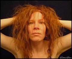 Fun Hair Day - 18/365 (Harpo42) Tags: red selfportrait hair long head auburn full curly 2008 thick raggedy january20 366 frizzy 18365 serenarocks