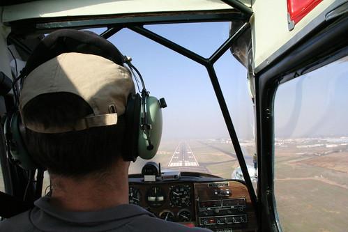 Landing at Merced