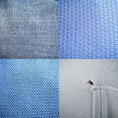 collage de azules (guayneta) Tags: azul polyester texturas telas tejido mezclilla algodn hilado