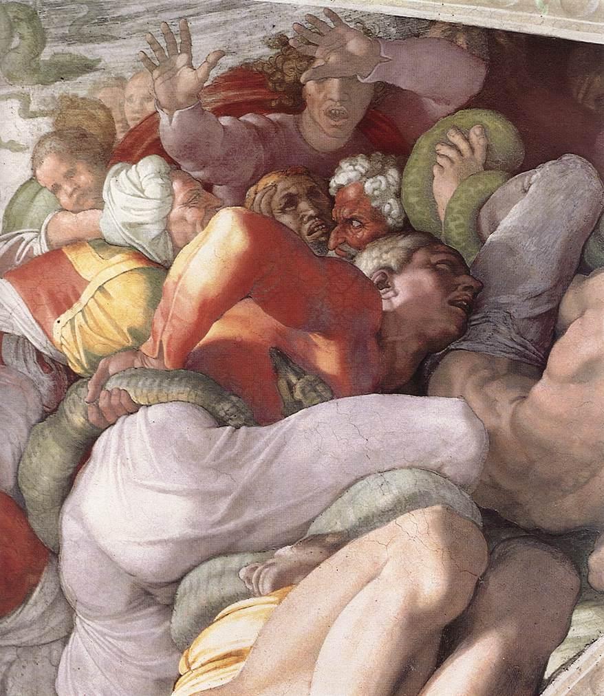 MICHELANGELO, Buonarroti Brazen serpent (detail), 1511