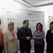 Rosa Torres, Angelina Costa y Rafael Blanco con la Asociación de Galeristas de Córdoba