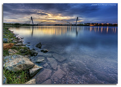 Seri Saujana Bridge (DanielKHC) Tags: bridge light sunset water digital reflections landscape high bravo rocks searchthebest dynamic dusk sony malaysia putrajaya alpha range soe dri hdr a100 blending seri dynamicrangeincrease photomatix supershot tonemapping saujana tamron1118mm 24exp superaplus aplusphoto danielcheong flickrplatinum hdrenfrancais superbmasterpiece infinestyle megashot danielkhc theperfectphotographer
