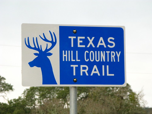 Convoluted hill country in Texas, USA