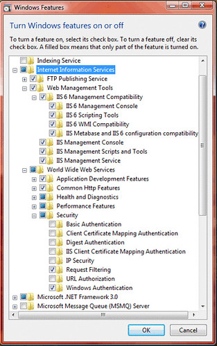 IIS 7 Features