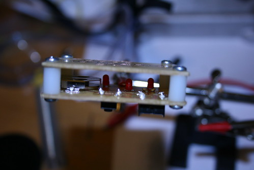 Making PCBs at home, Attempt 2: Parts soldered
