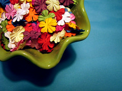 Spring in a Bowl (Sofia Katariina) Tags: flowers scrapbooking paper craft prima supplies