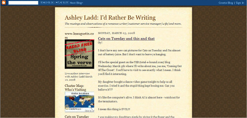 Ashley Ladd; I'd Rather Be Writing