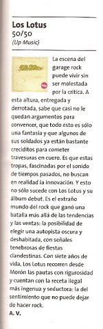 [Clipping] Los Lotus, 50/50
