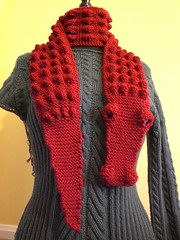 Crikey v.2 (No Knit Sherlock!) Tags: red scarf knitting crocodile alligatorscarf morehousefarmskits