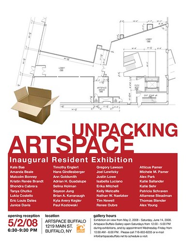 UNPACKING ARTSPACE_LETTER poster