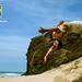 カポエRodrigo Sá ロドリゴの イラのビーチ Capoeira in Beach in Spiaggia la playa Strandnähe  קפואירה על החוף