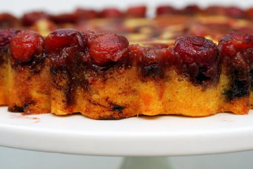 cherry cornmeal upsidedown cake