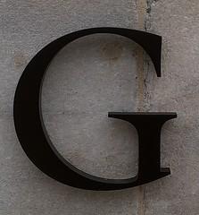 Capital Letter G (Washington, DC) (takomabibelot) Tags: geotagged washingtondc dc gg g mortar letter marble oneletter serif nationalportraitgallery fstreetnw majuscule geo:lat=38897367 geo:lon=77022808
