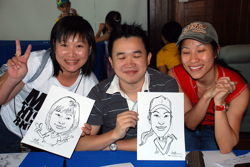 Caricature live sketching Temasek Fun Day 13