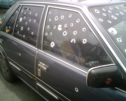 Bullet Hole Car Hooptie