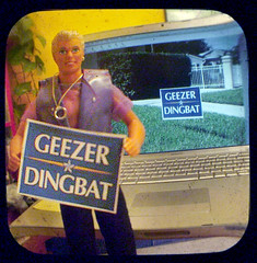 Change is a lawn time coming... (Friendly Joe) Tags: ken barbie mattel ttv earringmagicken anscoflexii emken election08 gaultierpurplefauxleathervest crken wethoughtthesignwasfunny alternativelifestyleactionfiguresforobama