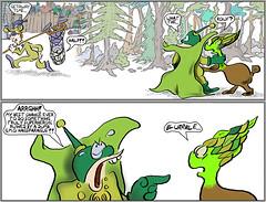 Ashcan Alley S6 #82 : Friendly Fire? (Weldon Alley) Tags: net kidnap error mistake hero superhero gene genetic haggis asparagus comic