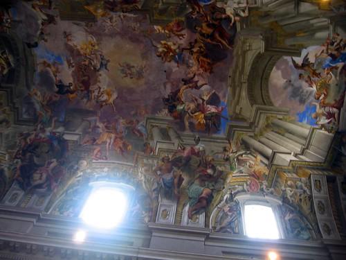 Ceiling of Chiesa di SantIgnazio di Loyola a Campo Marzio.