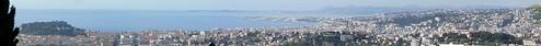Vue de Nice et de l'aeroport