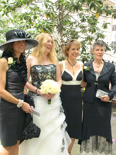 Julie with her sisters and mother, 7 May 11
