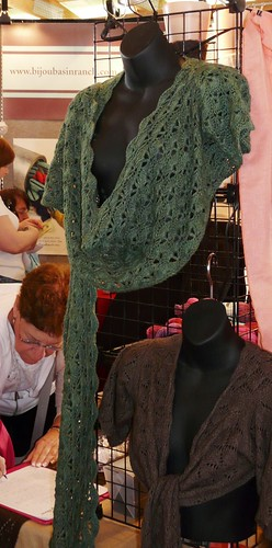 Love this green crocheted wrap