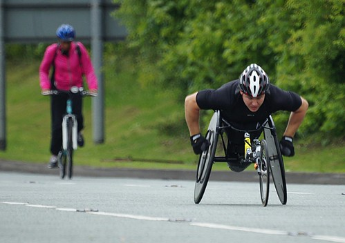 Athlete on Chester Road by Stuart Grout, on Flickr