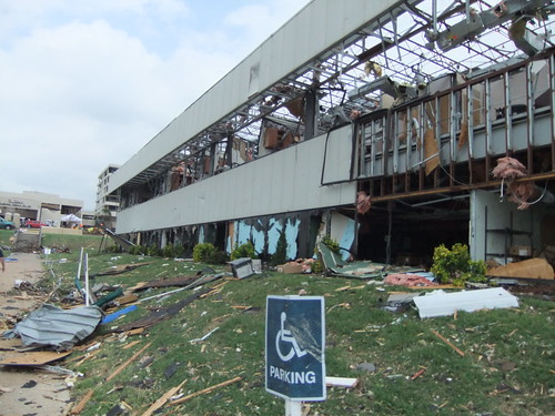 St. John's Regional Medical Center was severely damaged by the F-5 tornado that struck Joplin, Missouri.