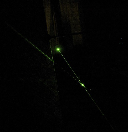Green laser, mirror & path