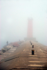 The Sheboygan Breakwater Light was Really Out There!! (foroyar22) Tags: red usa lighthouse weather fog wisconsin fishing fisherman lakemichigan sheboygan breakwater foghorn redlighthouse fogsignal charleskellogg northbreakwaterlight charlesgkellogg charliekellogg copyright2011 llmswisheboygan