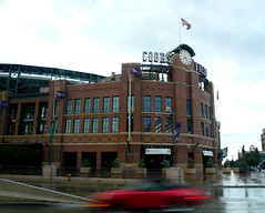 Memories of Summer II: Coors Field (L. Asuncion) Tags: summer overcast roadtrip denver rainy coorsfield lumixdmcfx07