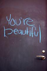 You're beautiful (briankosena) Tags: beautiful campus graffiti chalk cu boulder universitycolorado