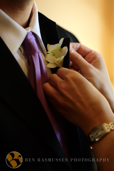 A groomsmen's boutonniere
