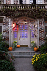 Halloween Haunted House, Park Slope, Brooklyn (jackie weisberg) Tags: city nyc newyorkcity houses costumes homes people urban house holiday ny newyork home halloween vertical architecture brooklyn costume seasons image cities parkslope dressup parades parade photograph american nightime newyorkstate recreation northeast halloweenparade neighborhoods nys hauntedhouse thebigapple kingscounty hauntedhouses colorimage americanholiday halloweenhome jackieweisberg halloweendecoratedhome