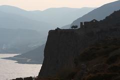 Ancient hills (romaniashots) Tags: light sunset sea ruins hills greece monemvasia interestingness245 pelopponese i500 romaniashots
