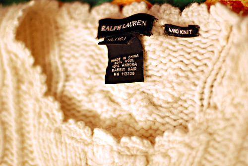 wool angora sweater