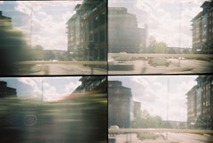 CNV00002 (incurable_hippie) Tags: motion lomo lomography sheffield transport toycamera actionsampler citycentre 4in1 takenfromabuswindow