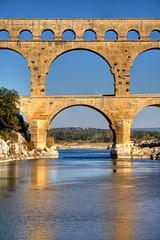Pont du Gard #4 (Roby Ferrari) Tags: bridge france river euro fiume unesco ponte romano pont pontdugard francia antico hdr gard antichit remoulins romani antichi acquedotto photomatix banconota banconote 5euro francefrancia