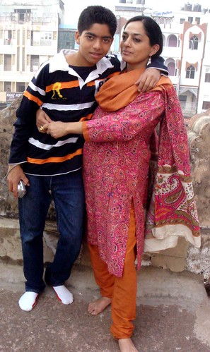 Sadia with Son