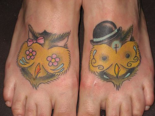 Owl Feet Tattoos. Jimmy Kuder III tattoos at Nowhere Fast Tattoo