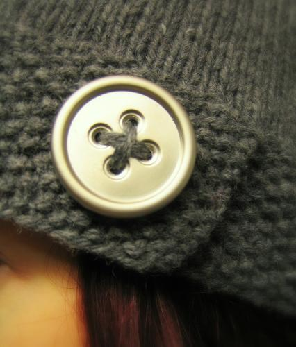 Button Hat close-up
