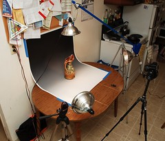 how I shoot photos of ceramics on my kitchen table! (Brian Searle) Tags: lighting photography ceramics howto pottery strobist