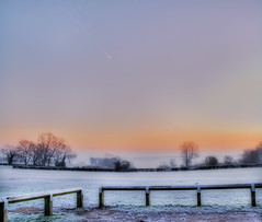 Morning in Coulsdon (Ben124.) Tags: morning sky sunrise fence bravo frost surrey coulsdon anawesomeshot superbmasterpiece photofaceoffwinner theperfectphotographer pfogold