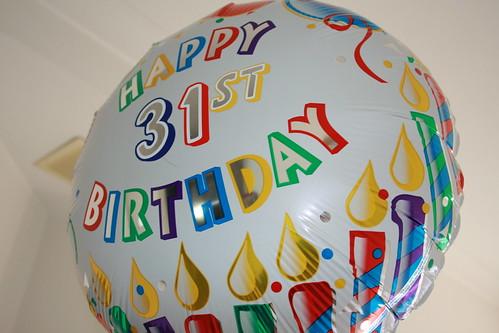 Поздравления с днем рождения 31 год