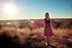 Taking Over This Town. (The Vision Beautiful) Tags: portrait sun black girl beautiful skyline pretty texas glare dress view gorgeous flare brunette overlook topoftheworld hilltop fortworth teenage rachelalbright