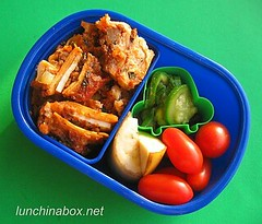 Lasagna bento lunch for preschooler